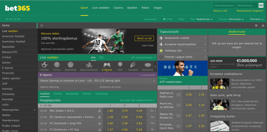 esports betting bet 365
